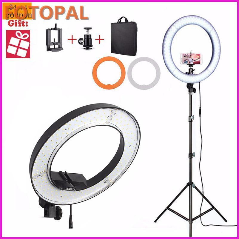 De Photo Selfie Du 55w Photographie Lumière Pour Jour Appareil Lampe 5500k Composent Anneau Téléphone Vidéo Fotopal Led SzpMVU