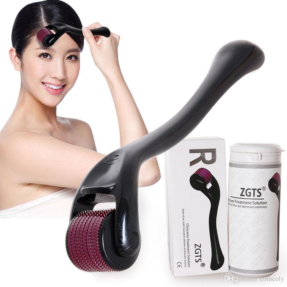 ZGTS micro macchine needling Titanium Derma Roller il ringiovanimento della pelle, ZGTS 540 Micro ago Dermaroller spedizione gratuita