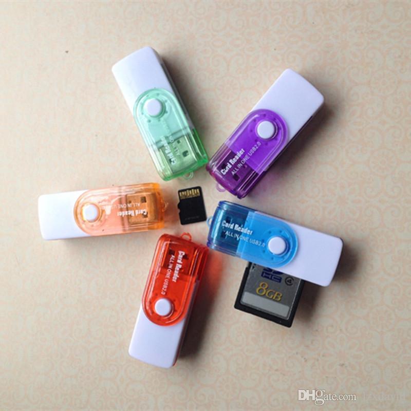 سعر المصنع بطاقة متعددة في 1 USB 2.0 محول موصل مايكرو SD TF M2 ذاكرة عصا MS Duo RS-MMC قارئ الذاكرة