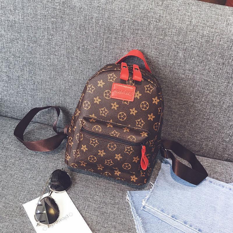 6381de07e4 Casual PU Leather Backpacks For Teenage Girls Backpack Women Floral Retro  Mochila Escolar Shoulder Bag Designer School Bags Bolsa Jansport Backpacks  School ...