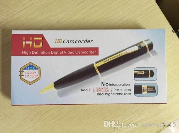 HD 1080 P Mini Stift Lochkamera Kamera Hohe Qualität Stahl Stift Mini DV DVR bewegungserkennung stift video camcorder unterstützung TF KARTE