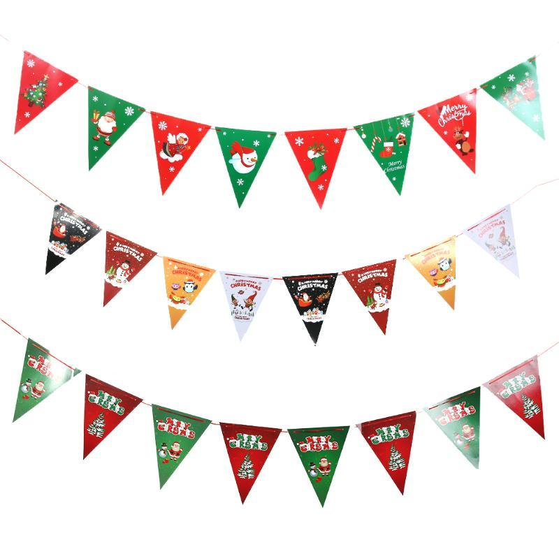 Christmas Decorations for Home Christmas Hanging Flag Banner String Home Yard Party Garden Decorations Ornament