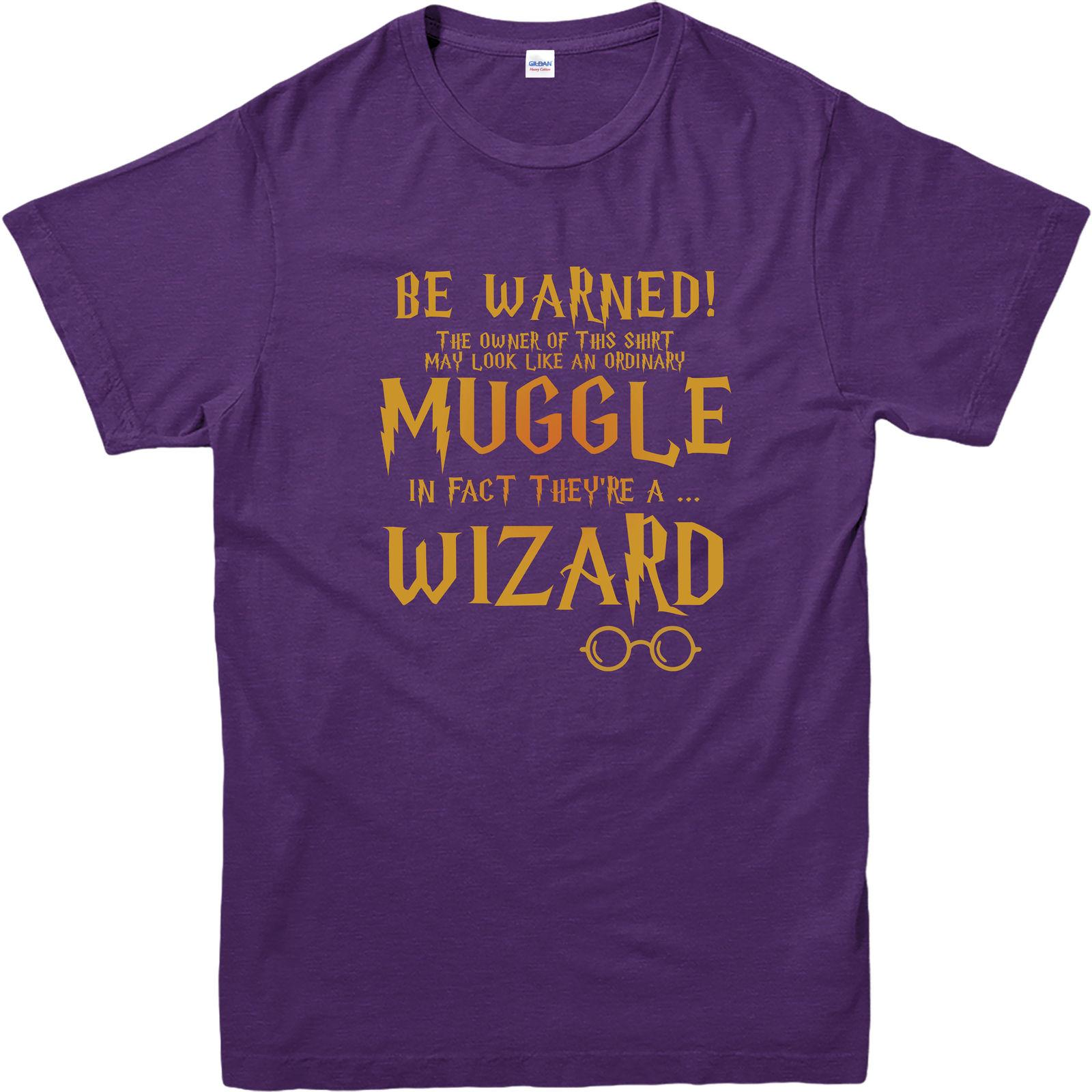 47d02abc Harry Potter T Shirt, Muggle T Shirt, Wizard Top. Harry Potter Fancy Dress  Funny Unisex Casual Tee Gift Shirt Shirt Novelty Tee Shirts From  Apparelconnect, ...