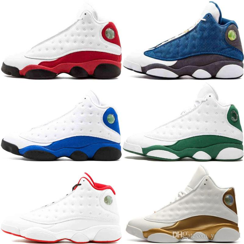 the latest bb94e 1f3e5 Acheter Nike Air Jordan 13S Hommes 13 Retro Chaussures De Basketball  Sneaker Altitude Noir Chat Chicago Bred Infrarouge 23 DMP Hyper Royal  Italie Bleu ...