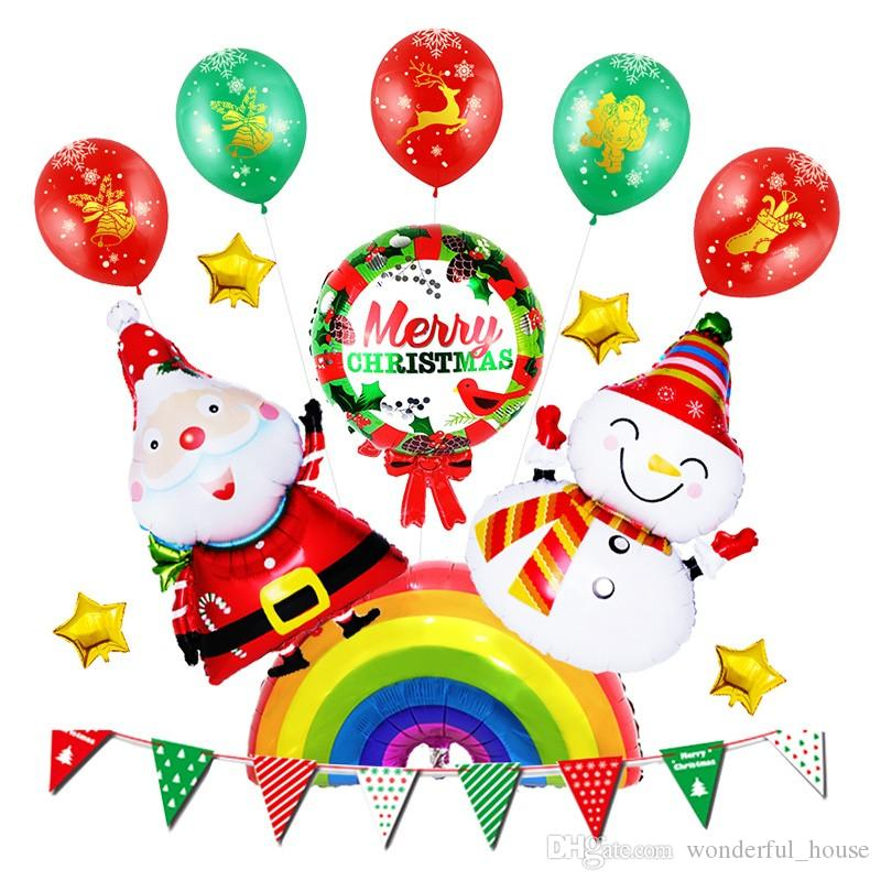 2018 christmas decorations balloons aluminum balloon merry christmas letter printing balloons christmas home wall decorations balloons from wonderful_house - Christmas Letter Decorations