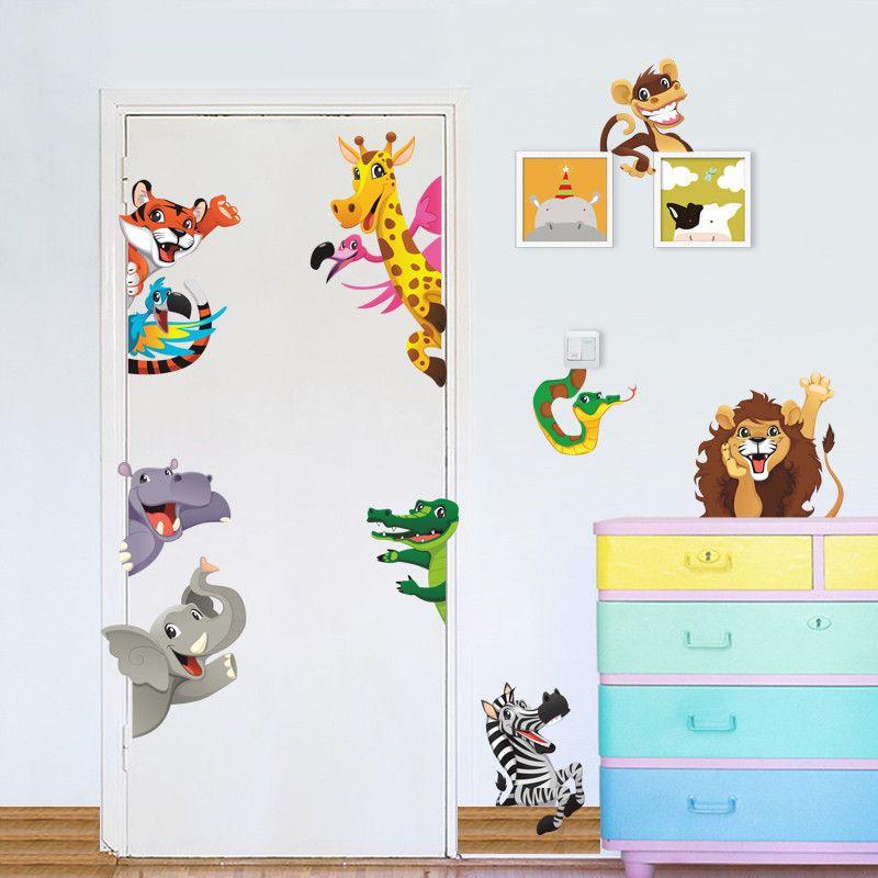 Grosshandel Tier Aufkleber Wald Tiere Wandaufkleber Fur Kinder Zimmer