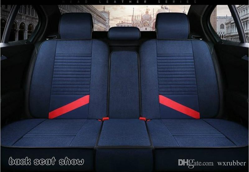 Personality creativity flax car mat England series four season Sedans Auto Interior Accessories all cclusive general car seat cover