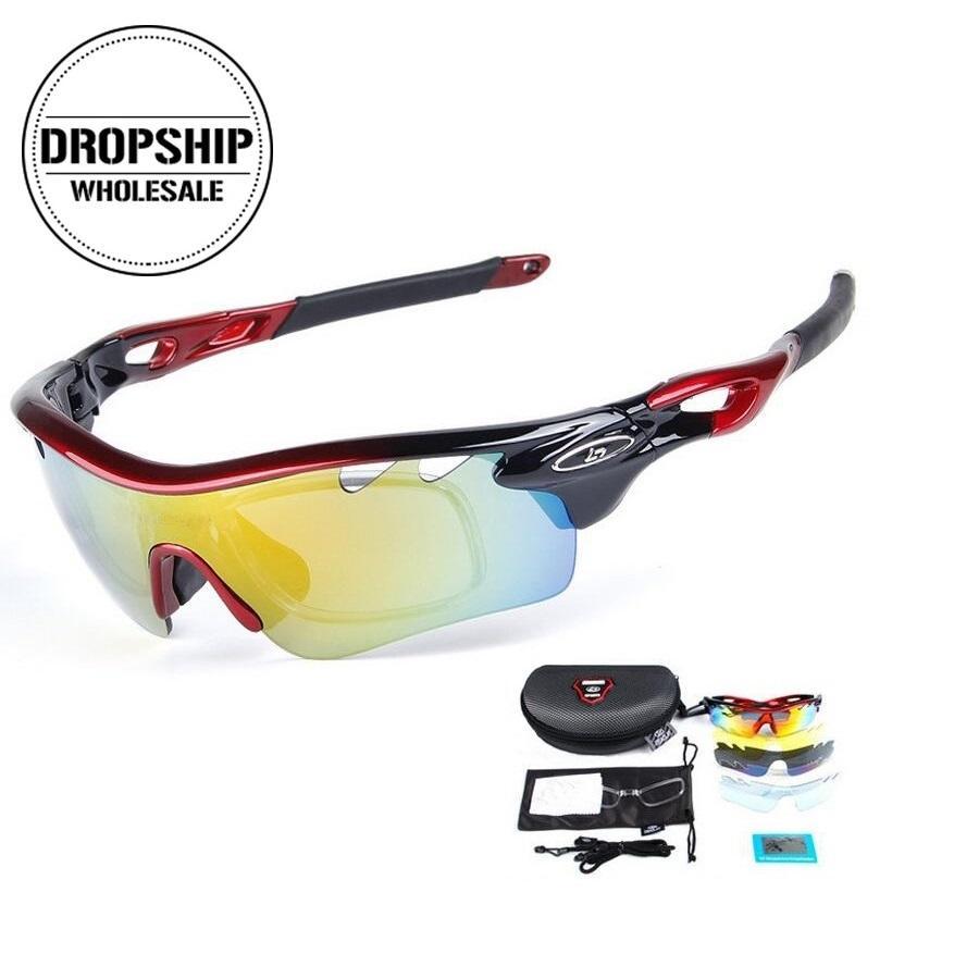 f05e1f73dc Gafas De Ciclismo Polarizadas Gafas De Sol Deportivas Para Bicicletas MTB UV400  Gafas De Protección ANTI ANTAÑO Para Correr Pesca Esquí De Conducción Por  ...