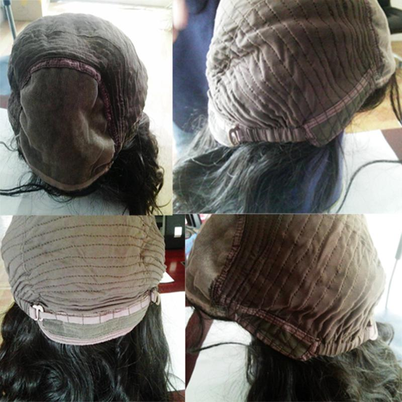 MHAZEL Capelli ricci seta Top piena pizzo pizzo anteriore parrucche dei capelli umani vergini brasiliani parrucca glueless