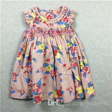 ba01b5bf81d Children s Dresses Baby Dresses Cute Baby New Dresses Printed Flowers  Printed Sundress New Model High Quality Age 9M-36M 2018 New Collection