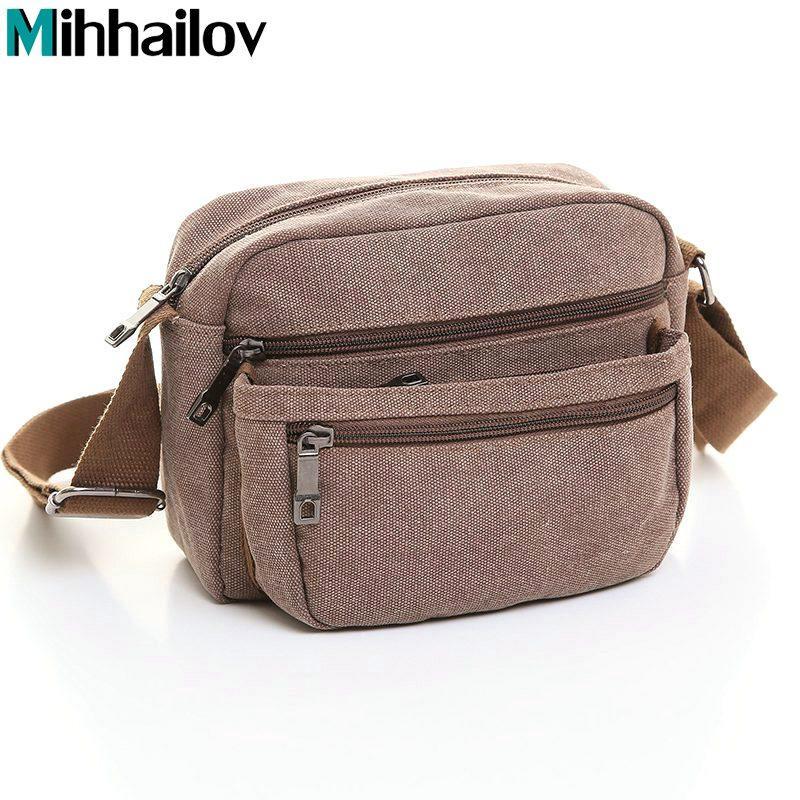 ... best service 3f803 2daeb High Quality 2017 Brand Canvas Bag Vintage  Designer Men Crossbody Bags Cowhide ... 7a5b05d31433a