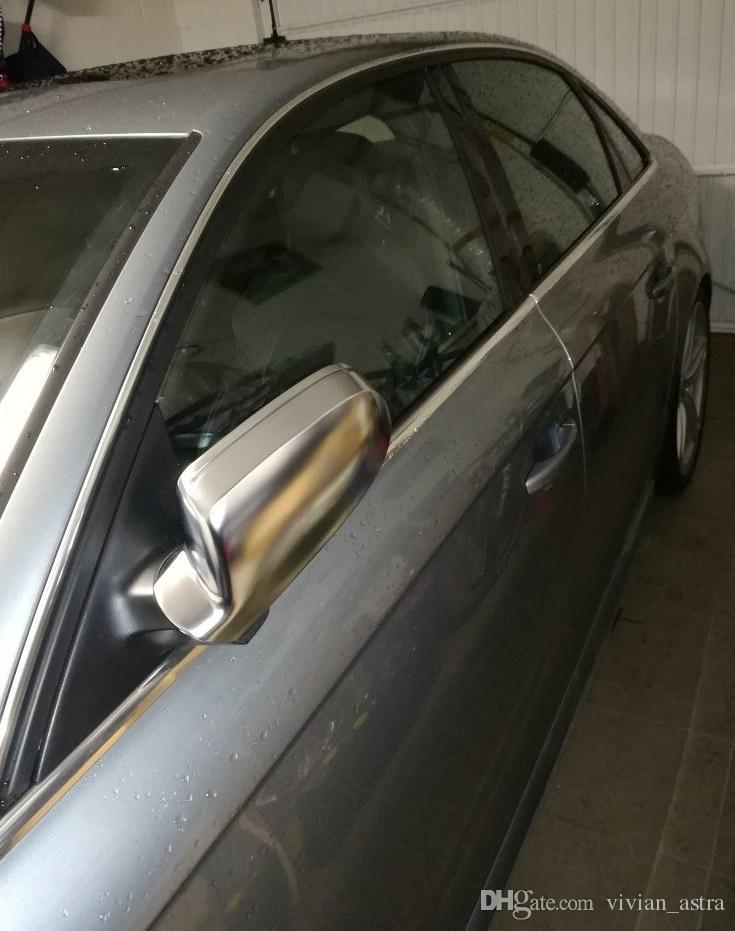 2013 A4 A5 S5 B8.5 사이드 윙 미러 커버 뚜껑이있는 알루미늄 닦았 실버 매트 크롬 맞는 아우디 A3 8P 교체 RS5 RS4