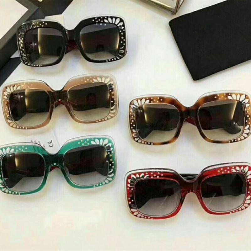 16b15da8a9 Oversize Square Frame Rhinestone Sunglasses 2018 Trending Women S Fashion  Eyewear Italy Brand Designer Sun Glasses Female Shades Prescription Glasses  ...