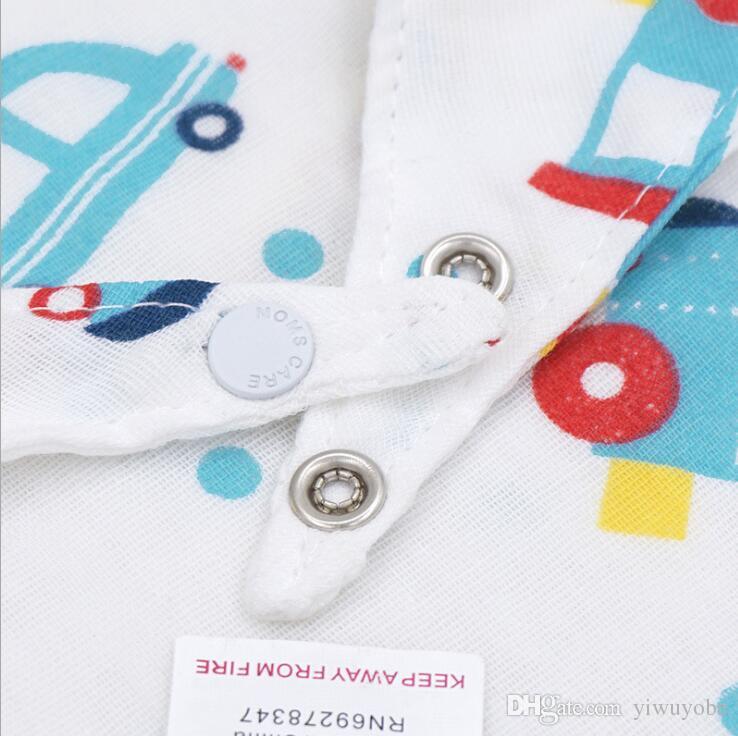 Six layers new designs baby cotton bandana bibs INS hotsale infant burp cloths cartoon cute designs for newborn boys and girls