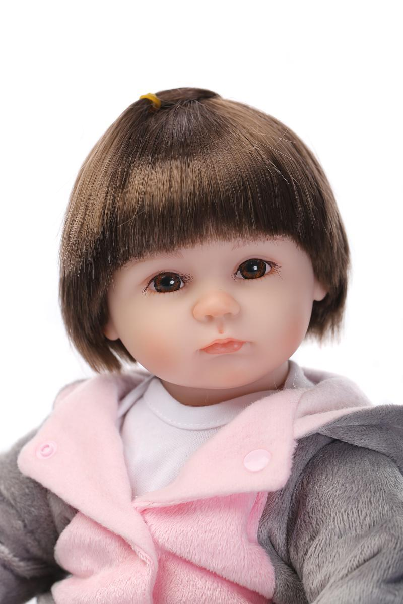 16inches 42CM silicone reborn doll Bonecas Baby Reborn realistic magnetic pacifier bebe doll reborn for girl Gift