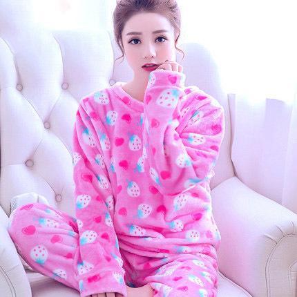 d3dd84ca51 Autumn Winter Women Pajamas Coral Fleece Sleepwear Warm Bathrobe Nightgowns  Kimono Pyjamas S1015 Nightwear For Women Pajama Pants From Ruiqi06