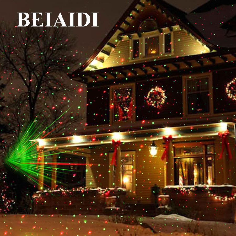 Wholesale Beiaidi Christmas Outdoor Laser Projector Star Spotlight Garden Landscape Light Dj Disco Stage Lamps R G Garden Lawn Light