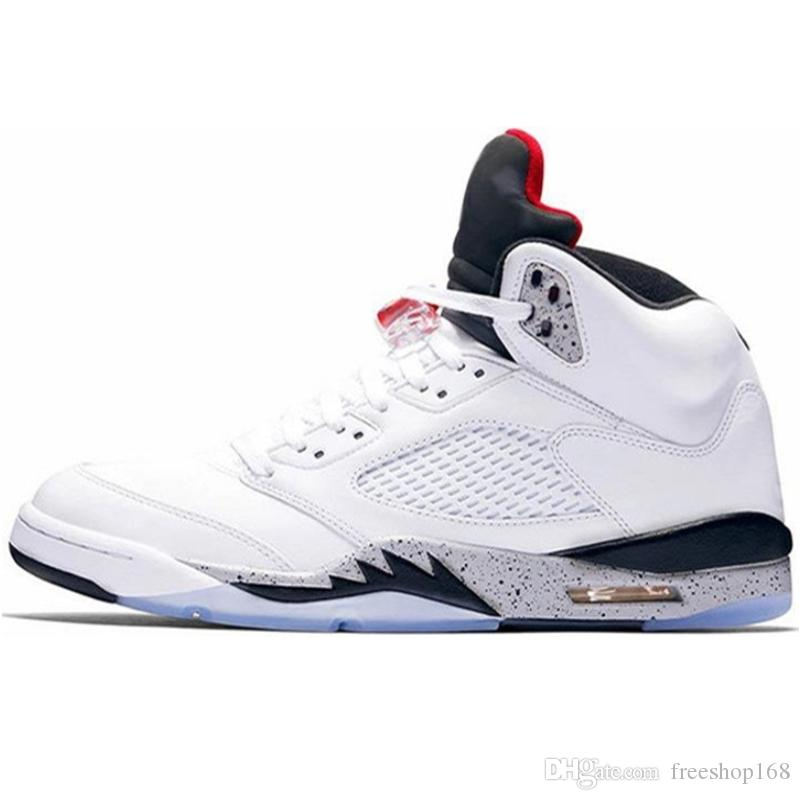 af3bee1725b Best Quality 5 Mens Basketball Shoes White Cement Hornets Metallic ...