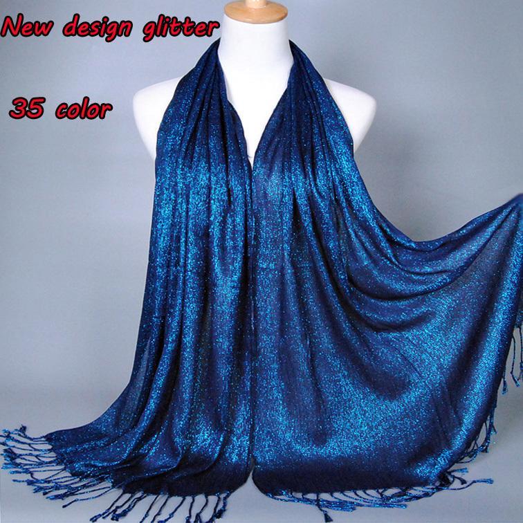 03ae96e60d43 Acheter Plain Shimmer Printe Couleur Unie Lurex Paillettes De Couleur Unie  Longs Châles Musulman Hijab Hiver Wrap Foulards   Écharpe   C18111701 De   48.19 ...