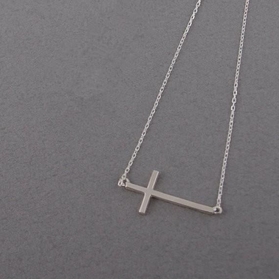 Mode 18k plaqué or Colliers en argent plaqué Croix Collier Pendentif Collier pour les femmes cadeau Livraison gratuite en gros
