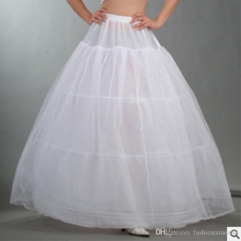 Wholesale 3 Hoop Petticoat Underskirt For Ball Gown Wedding Dress Accessories Bridal Underwear Prom Evening Crinoline