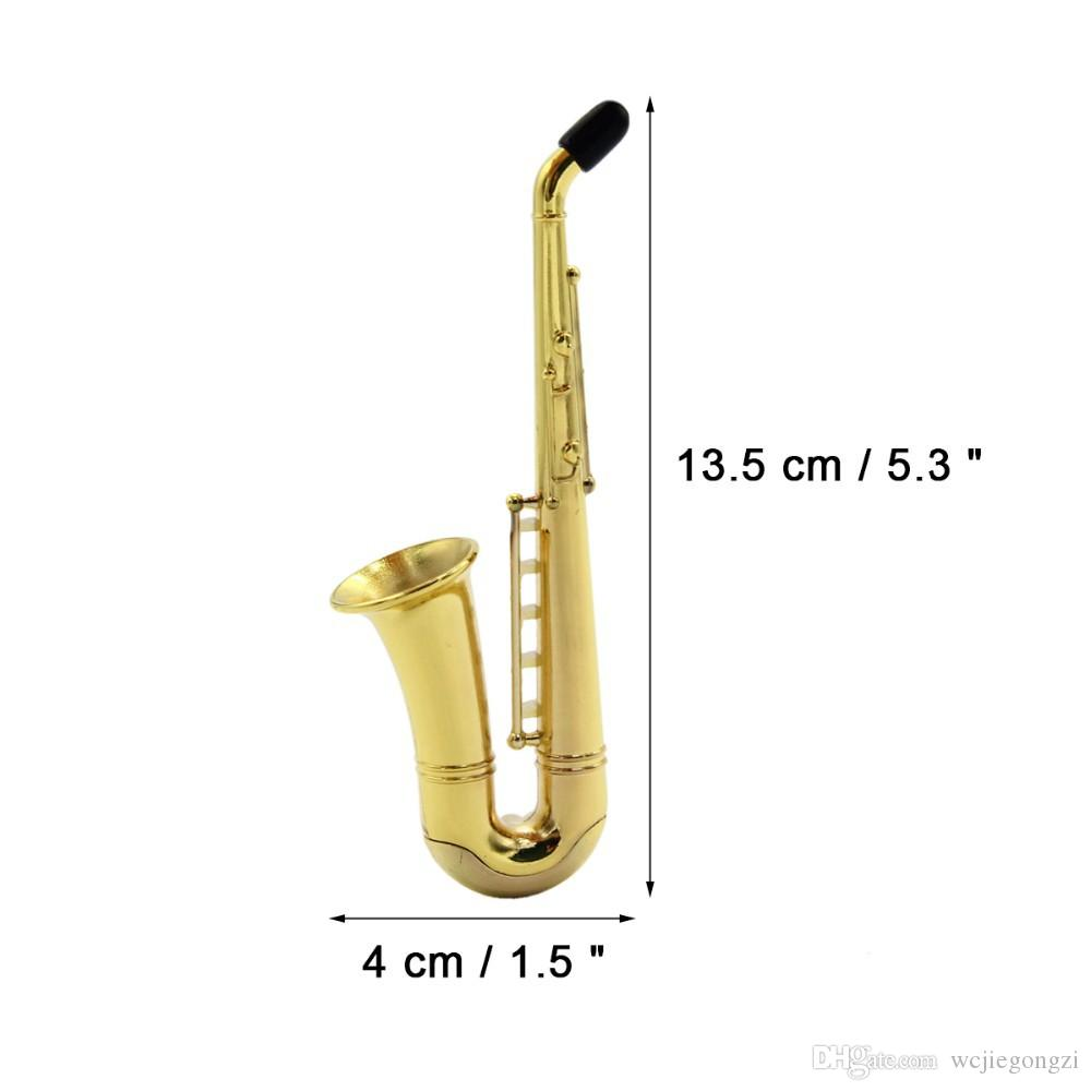 2018 Fashion Mini Brand New Saxophone high quality metal filter pipe handle spoon smoking pipe in stock