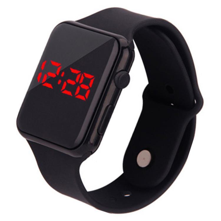 d61a445e4d4 Compre Doce Cor Esportes Assista Silicone Strap LED Relógios Eletrônicos  Masculinos Femininos Crianças Relógios Data Pulseira Digital Sports Relógio  De ...