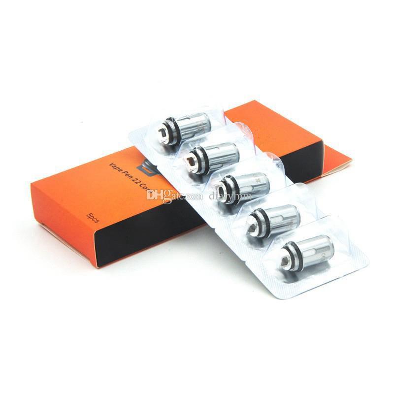 Vape Pen 22 Bobina di ricambio nucleo Testa 0.3ohm 0.15ohm Flavor Chaser confezione NiCr materiale Dual Core Tfv8 bobine