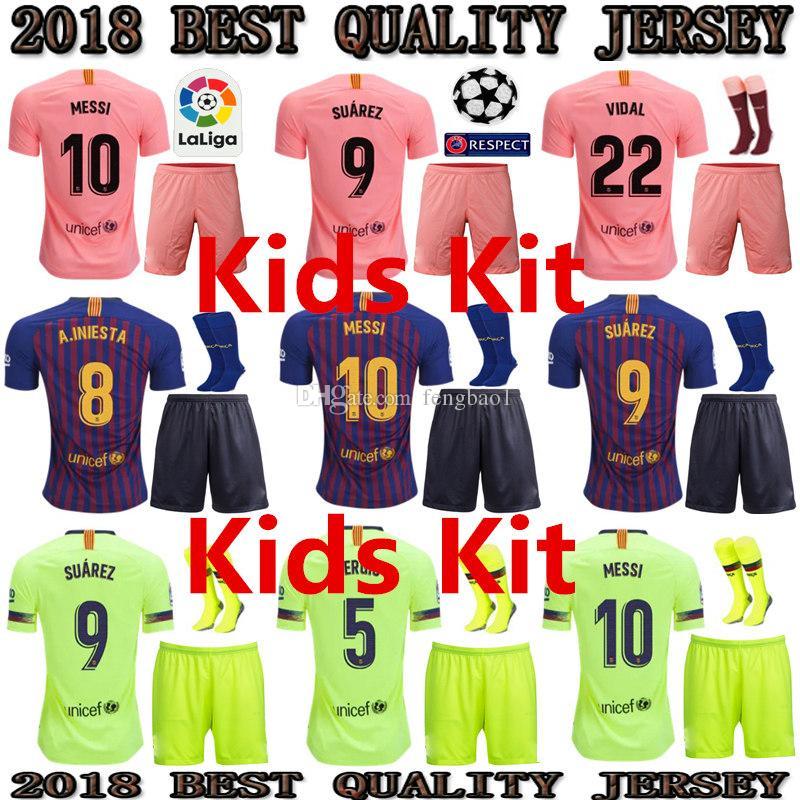 ed061d01cb4 ... netherlands 2018 kids 2018 2019 barcelona kids kit soccer jerseys 18 19  la liga messi suárez