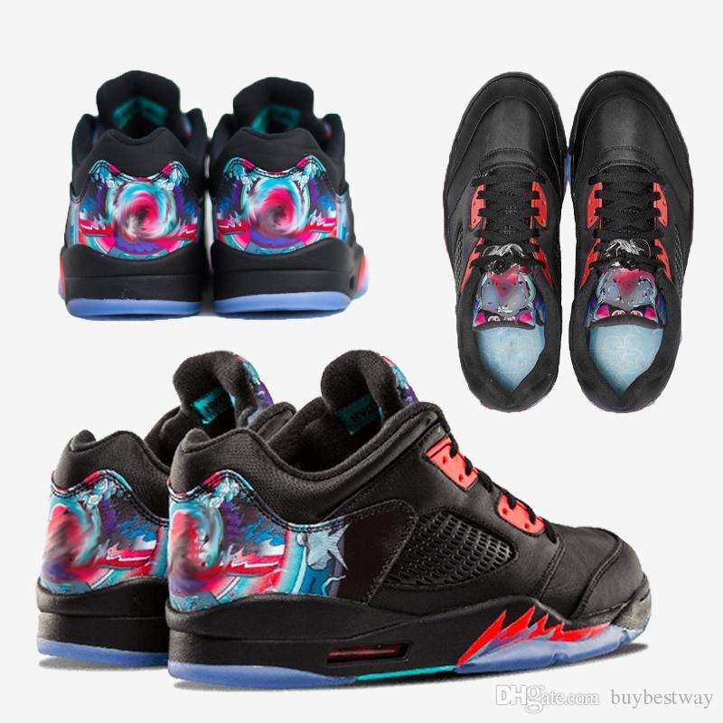 d9a7f03faae 2019 High Quality 5 5s Low Chinese New Year Kite Basketball Shoes Men Women  5s CNY Kite Sports Sneakers With Shoes Box Xz115 From Buybestway, ...