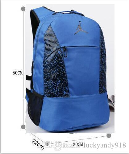 fa1f461a649b Students Backpack With Basketball Player Fashion Designer Backpacks For  School Bags Stylish Mens JORDAN Travel Backpack Rucksack Backpack Boys  Backpacks ...