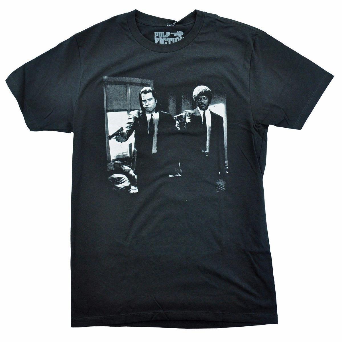 a33c1d7730 Acheter Pulp Fiction T Shirt Homme Vincent Et Jules Homme T Shirt Été O Cou  100% Coton Manches Courtes Hommes De $12.08 Du Lijian038 | DHgate.Com