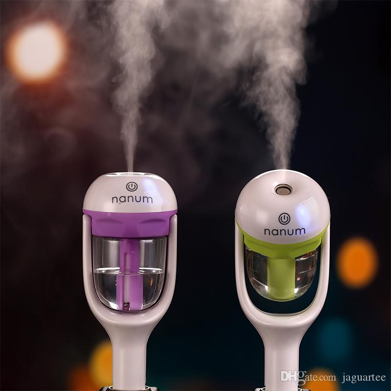 Nanum Car Plug Air Humidifier Purifier,Vehicular Essential Oil Ultrasonic Humidifier Aroma Mist Car Fragrance Diffuser