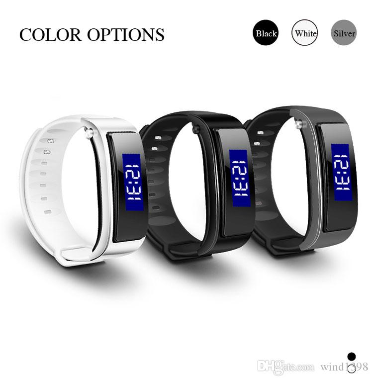 Latest FX-3 Bluetooth Earphone Smart Bracelet Sport Wristband Bracelet Band Passometer Pedometer Hands-free Headset for mobile phone