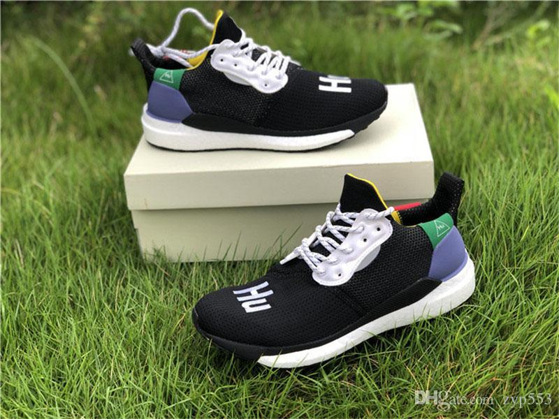 2d6f8a558 2018 Newest Originals Pharrell Williams X Solar Hu Glide Pack ST Core Black  White Green NMD Human Race Running Shoes Man Authentic Sneakers Men Running  ...