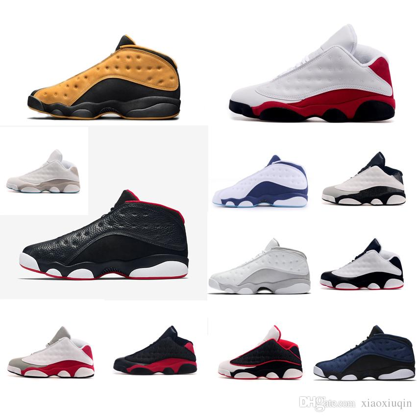 d9d6e50a9cf 2019 Mens Retro 13s Low Basketball Shoes Aj13 Chutney Yellow Black Red Blue  Bred Chicago Grey Barons Jumpman XIII J13 Lows Tops Sneakers With Box From  ...