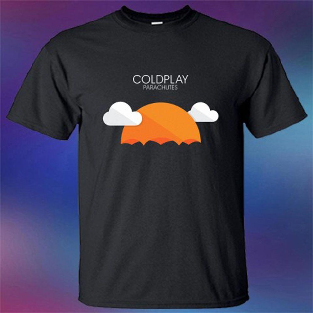 New Coldplay Parachute Rock Band Album Cover Logo Men s Black T-Shirt Size  S-3XL