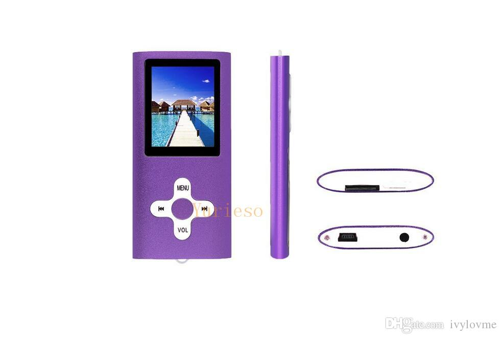 MP4 Classic Slim 4th MP4 Player Without SD Card With FM Radio Video Player and Recording MP3 support 4G 8G 16G