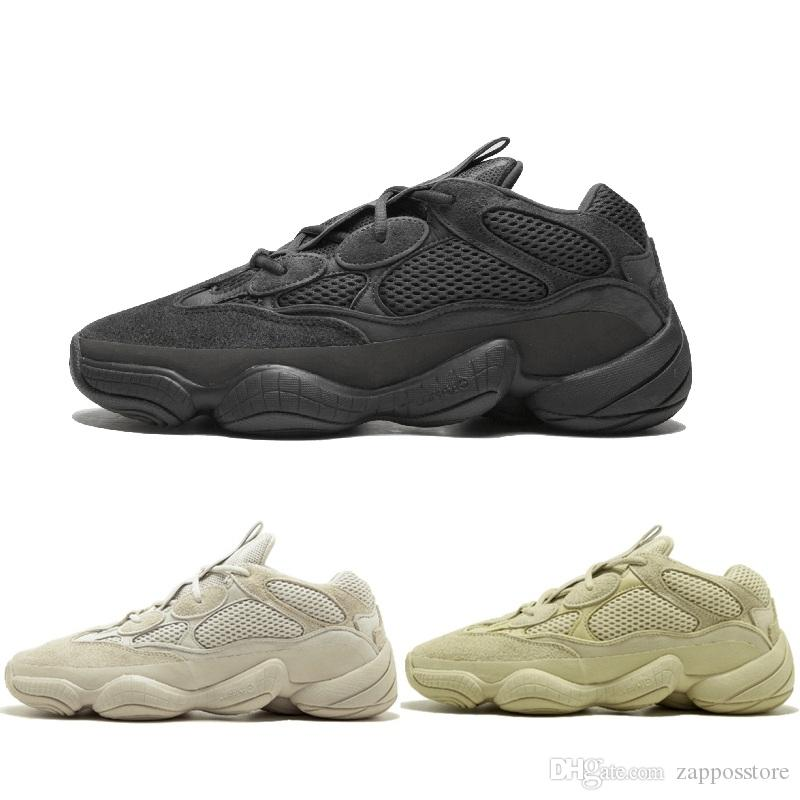 new product f91ec 2f804 Desert Rat 500 3M Supper Moon Yellow Blush Utility Black Mens Designer  Shoes Running Sneakers Cow Leather Sport Casual Shoes 36-46