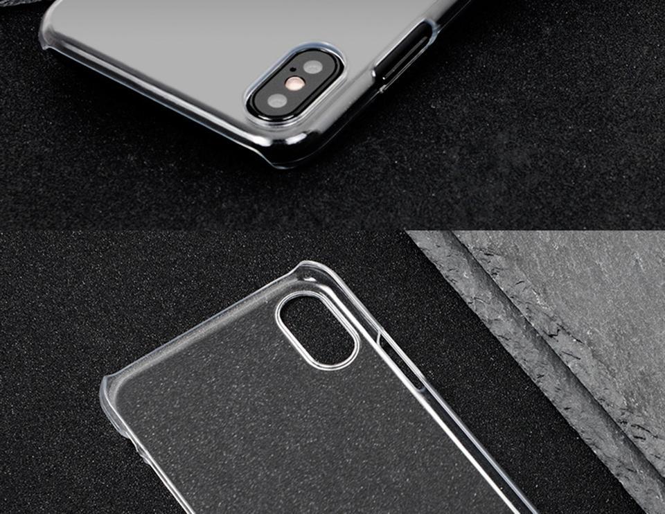 Прозрачный Жесткий Чехол для iPhone X 8 7 6 6 s Плюс 5S 5 SE Чехлы для Slim Slim MOQ 6 шт.