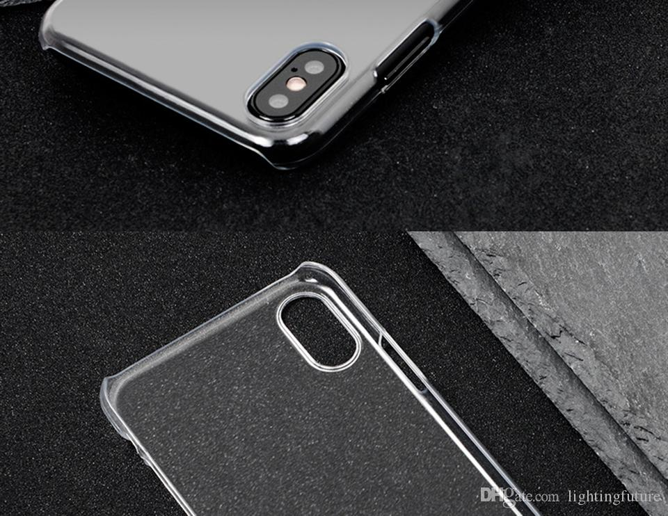 Klarer Hard Case für iPhone X 8 7 6 6 s plus 5 s 5 SE Cover Fällen schlank MOQ 6st