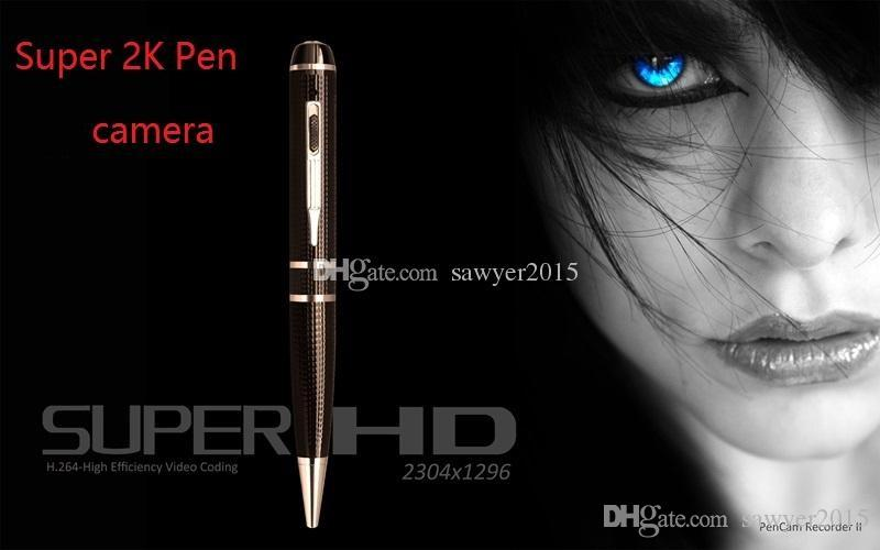 2K HD 1296P Mini pen camera 1080P H.264 Motion Detection HDMI Port Memory Ball Pen pinhole Camera DVR with retail box