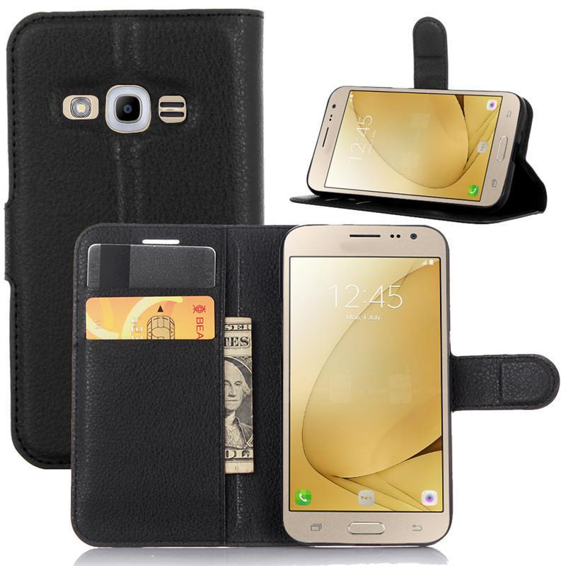 pretty nice 000ca e046e For Samsung Galaxy J2 Pro J5 J7 2017 Case Luxury PU Leather Back Cover Case  For Samsung Galaxy J2 2016 Case 5.0 Flip Protective Phone Bags