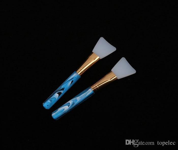 Alta calidad 1 unids pincel de maquillaje 4 colores de silicona mascarilla facial mezcla de barro cuidado de la piel belleza maquillaje cepillos fundación herramientas