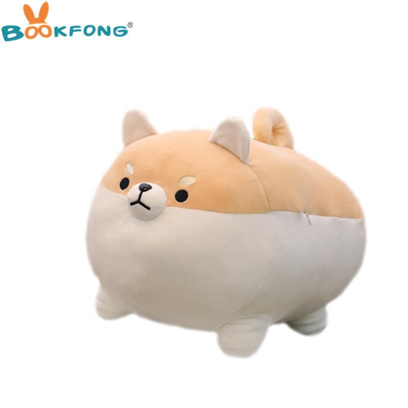 2019 40 50cm Kawaii Fat Corgi Dog Plush Pillow Soft Down Cotton