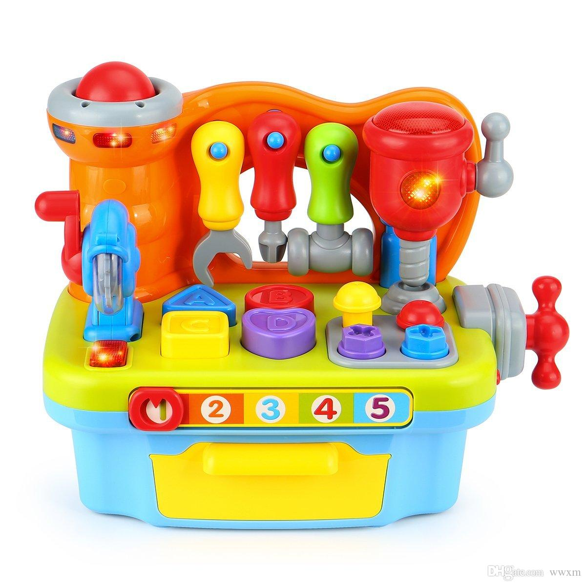 baby toys Multifunctional music Toolbox Learn Assembly puzzle Intellectual education toys developed for boys and girls Puzzle toys For the b