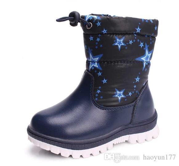 separation shoes 72f16 a035d 2018 Inverno caldo panno di lana con pelo morbido di pelliccia di coniglio  pelliccia suole in gomma per bambini stivali da neve per bambini scarpe per  ...
