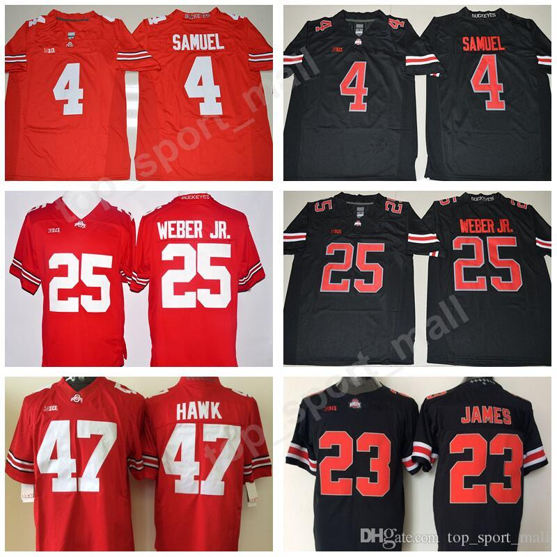 size 40 446fe 95d7b Ohio State Buckeyes NCAA College Football Jerseys 4 Curtis Samuel 23 Lebron  James 25 Mike Weber JR 47 AJ Hawk Stitched Big Ten