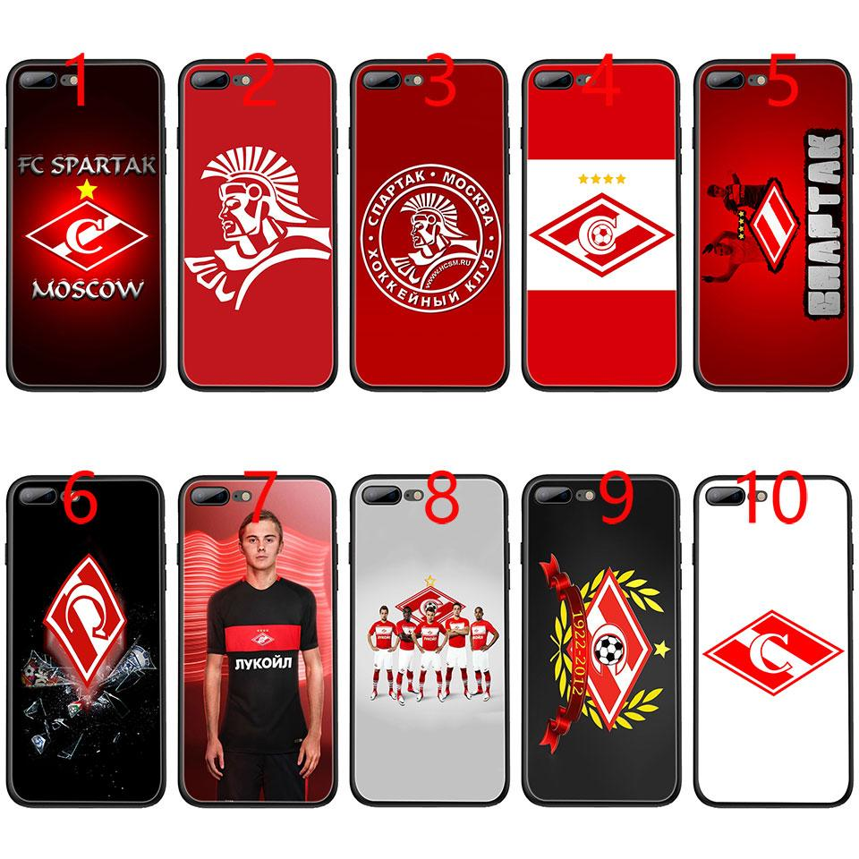 Spartak moscou rússia futebol soft black tpu phone case para iphone xs max xr 6 6 s 7 8 mais 5 5S se cobrir