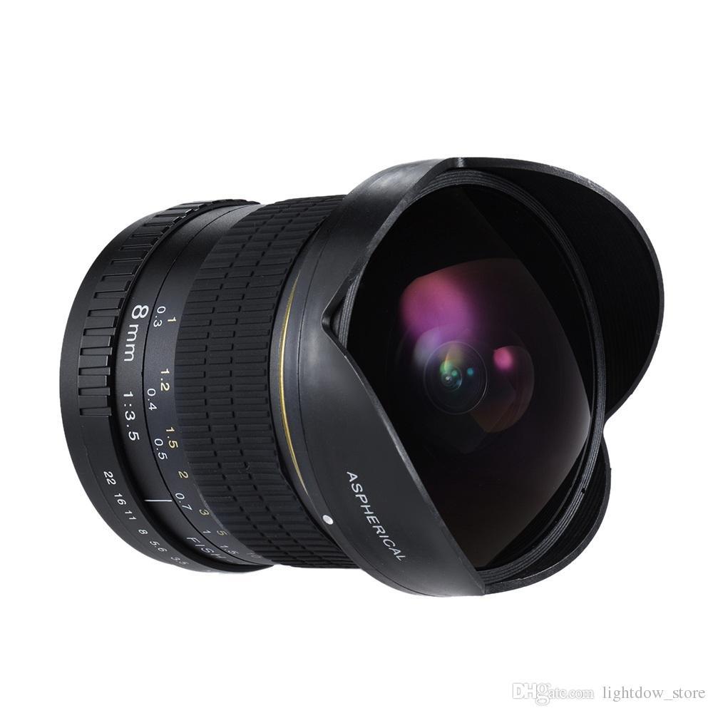 9ba499c01 Compre Lightdow 8mm F / 3.5 Lente Ultra Wide Olho Lente Fisheye Lente Da  Câmera Circular Asférica Para Nikon DSLR Half Frame Câmeras De  Lightdow_store, ...